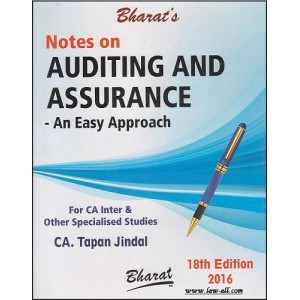 Bharat's Notes on Auditing and Assurance - An Easy Approach for May 2016 CA-Inter (IPC) By CA. Tapann Jindal